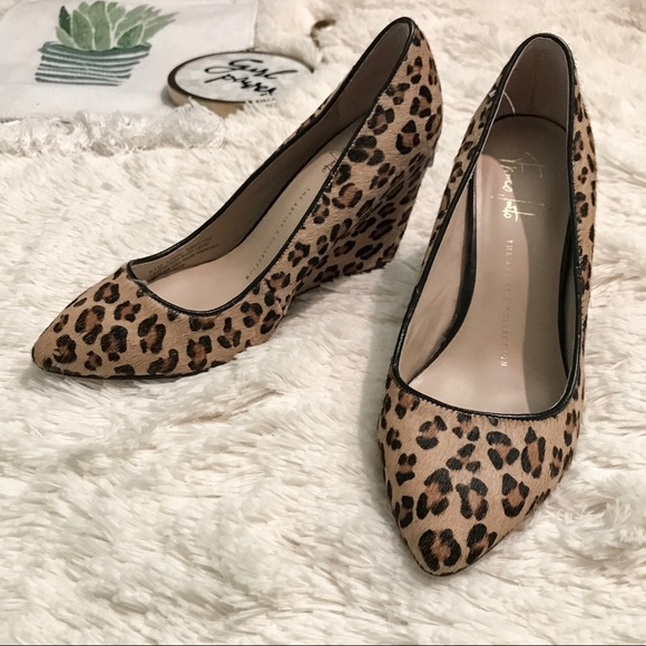 fd7ec1cf8bdb Franco Sarto Shoes - Franco Sarto Brown Leopard Print Wedge Heels
